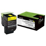 LEXMARK TONER YELLOW CX410/510 3K 80C8HY0